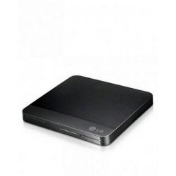 LG Slim Portable USB 2.0 External DVD+/- RW Drive - Black